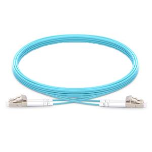 OM4 LC-LC Multimode Fiber Optic Patch Cables - Aqua