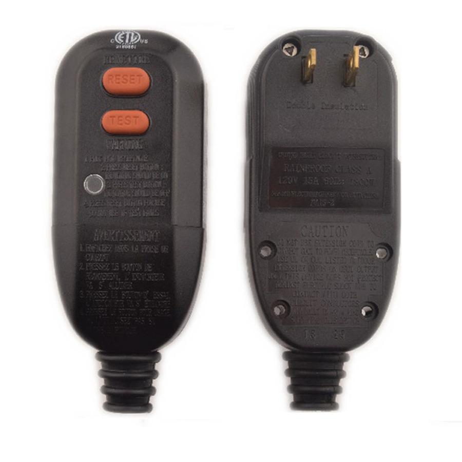 Buy 15 Amp 2 Wire User Attachable Auto Reset GFCI Plug Head