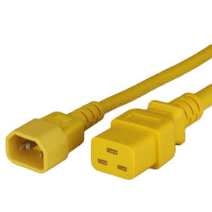 15A C14 C19 Power Cords - YELLOW