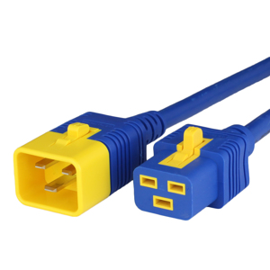 16A V-Lock C20 C19 Power Cords - BLUE