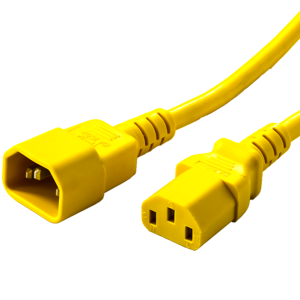 10A C14 C13 Power Cords - YELLOW
